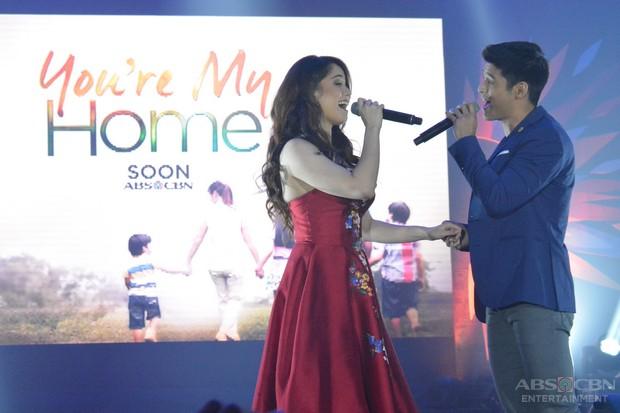 PHOTOS: The stars of the new drama series You're My Home Jessy Mendiola and JC de Vera at #ShineKapamilya Trade Launch